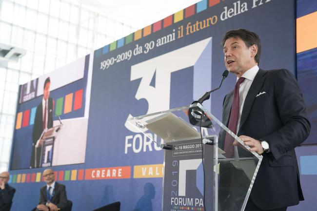 Il Presidente Conte visita al Forum PA 2019