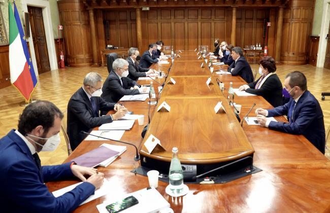 Il Presidente Draghi incontra la delegazione di Italia Viva sul PNRR