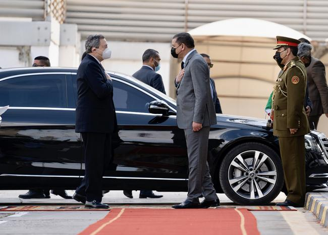 Draghi in visita in Libia