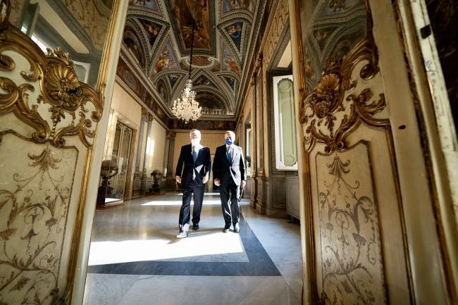 Draghi riceve il Presidente della Repubblica del Cile Sebastian Piñera