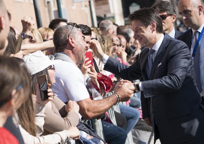 Il Presidente Conte a Piazza Venezia