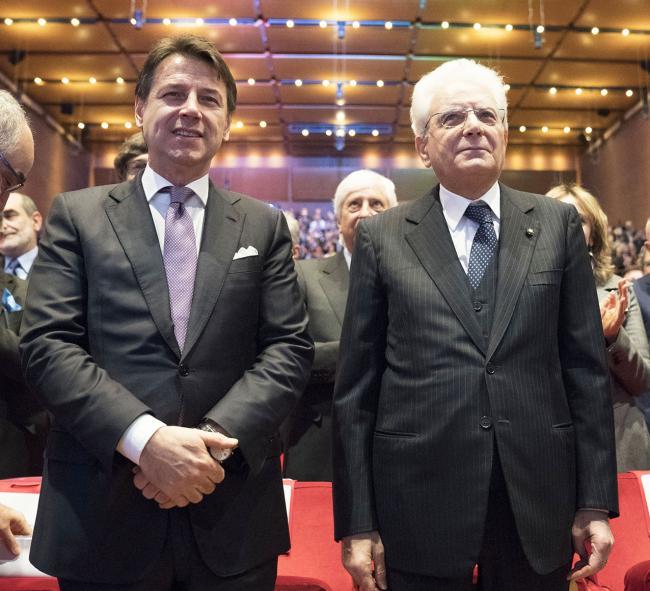 Conte con il Presidente della Repubblica Mattarella