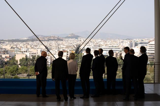 Il Presidente Draghi ad Atene per il vertice EU MED 9
