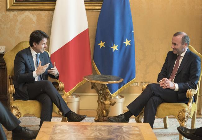 Il Presidente Conte incontra Manfred Weber