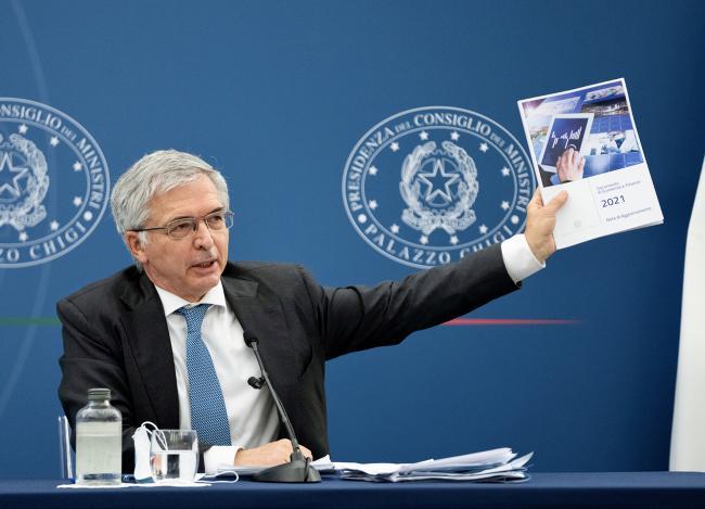 Conferenza stampa Draghi - Franco