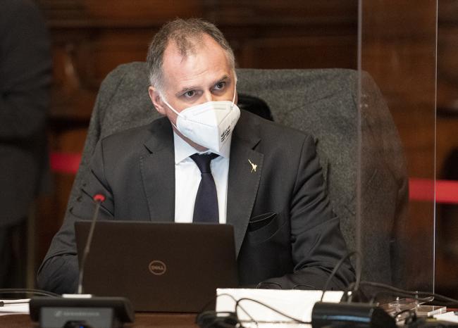 Il Ministro Garavaglia durante il Consiglio dei Ministri n. 1
