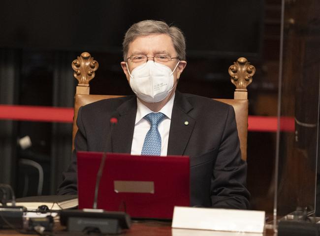 Il Ministro Giovannini durante il Consiglio dei Ministri n. 1
