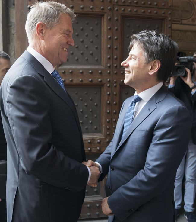 The State of the Union 2019, Il Presidente Conte con ilPresidente della Romania