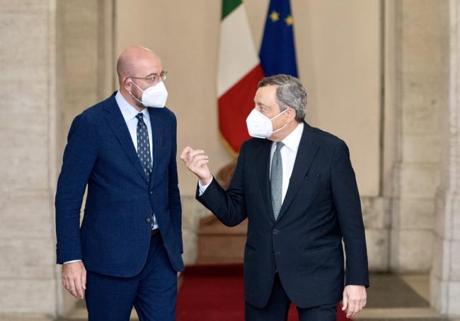 Draghi incontra il Presidente del Consiglio europeo Michel