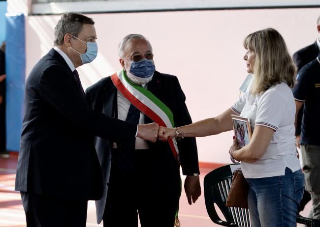 Il Presidente Draghi ad Amatrice per l'anniversario del sisma 2016