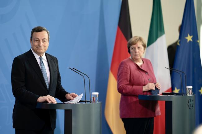 Conferenza stampa Draghi - Merkel