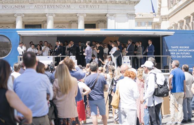 Il Presidente Conte alla presentazione di #OggiProtagonistiTour