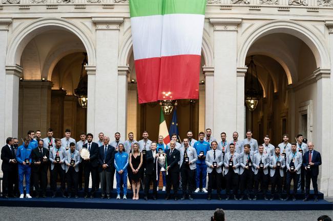 Gli Azzurri e Matteo Berrettini a Palazzo Chigi