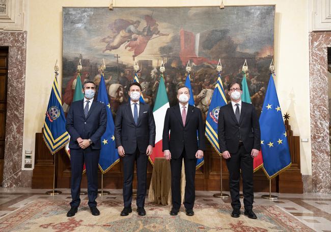 La cerimonia di insediamento del Governo Draghi