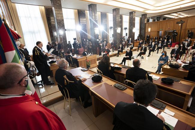 Draghi all'inaugurazione dell'anno giudiziario della Corte dei Conti