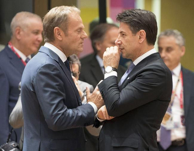Conte e Tusk al Consiglio europeo e all'Euro Summit