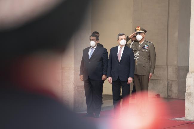 Draghi incontra il Presidente del Consiglio Presidenziale dello Stato di Libia