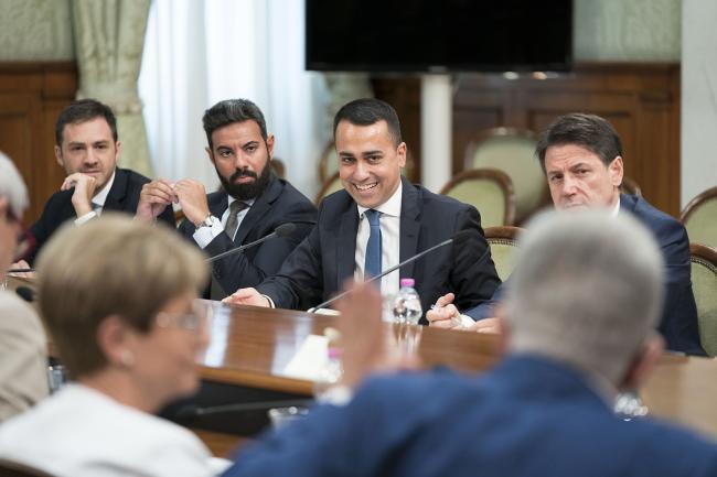 Conte e Di Maio incontrano i sindacati a Palazzo Chigi