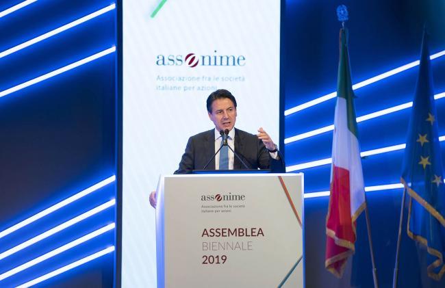 Conte all'Assemblea Biennale Assonime