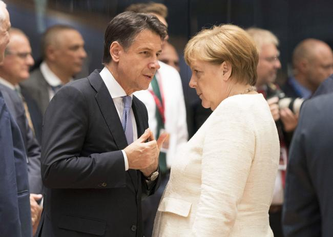 Conte e Merkel al Consiglio europeo e all'Euro Summit