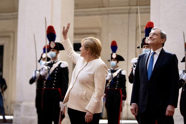 Draghi incontra la Cancelliera  Merkel