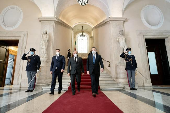 Draghi incontra i Capitani Reggenti della Repubblica di San Marino