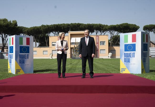 Il Presidente Draghi incontra la Presidente della Commissione Ue von der Leyen