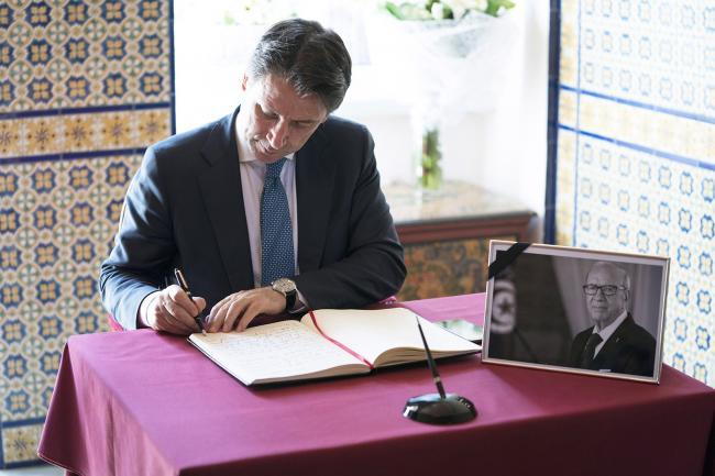 Il Presidente Conte all'Ambasciata tunisina di Roma