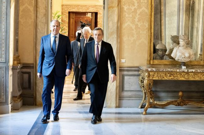 Il Presidente Draghi incontra il Ministro degli Affari Esteri della Federazione Russa