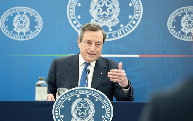 Conferenza stampa del Presidente Draghi