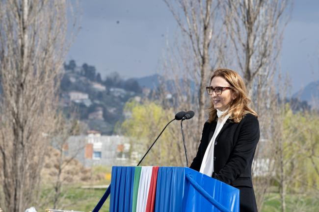 La Presidente Carletti alla cerimonia d'inaugurazione del Bosco della Memoria