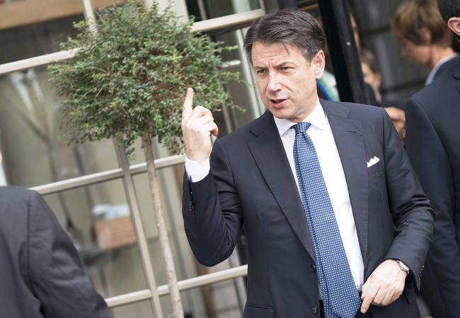 Il Presidente Conte arriva all'Euro Summit