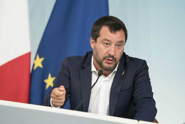 Il Vice Presidente Salvini in conferenza stampa