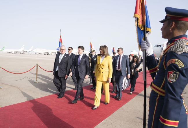 Il Presidente Conte in Egitto per il vertice tra Unione europea e Lega degli Stati arabi