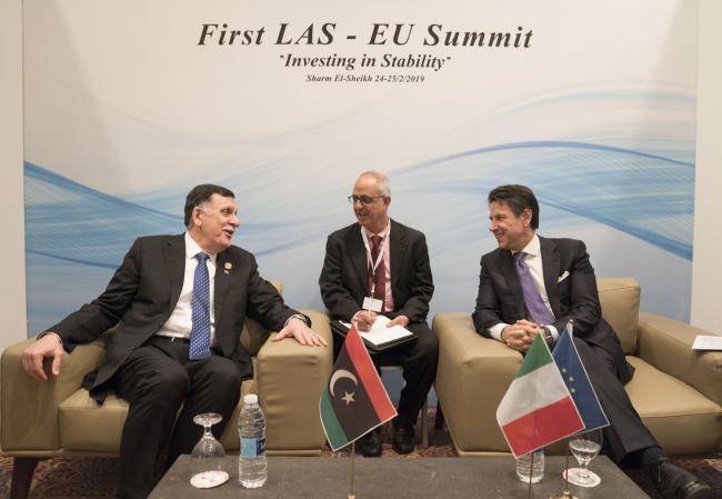 Il Presidente Conte con Fayez al Serraj