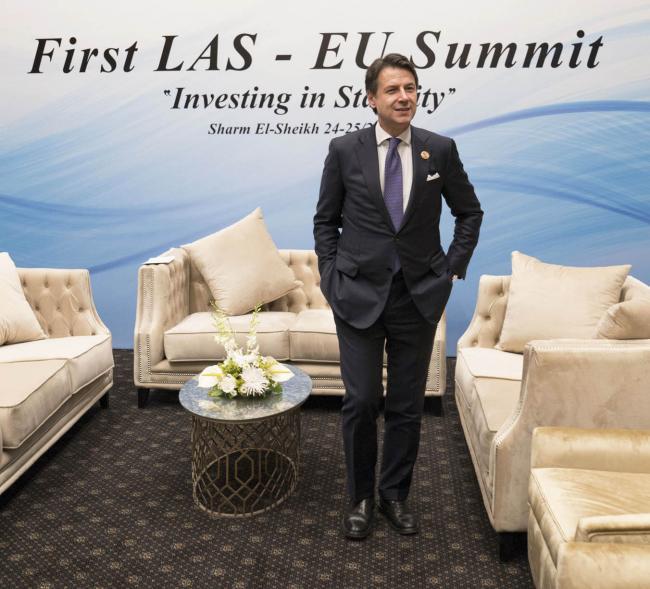 Il Presidente Conte al vertice tra Unione europea e Lega degli Stati arabi
