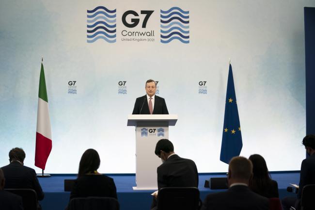 Vertice G7, conferenza stampa del Presidente Draghi