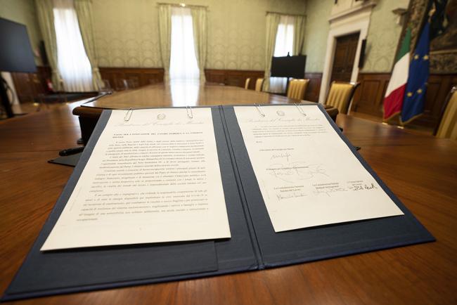 Firma del 'Patto per l'innovazione del lavoro pubblico e la coesione sociale'