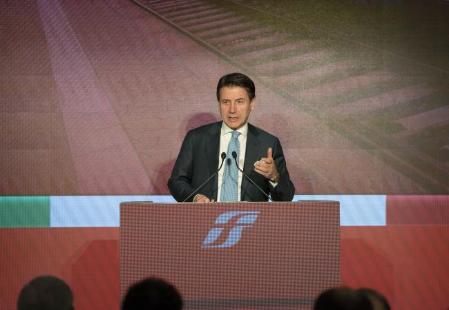 Conte alla presentazione del Piano industriale 2019/2023 del Gruppo Ferrovie dello Stato