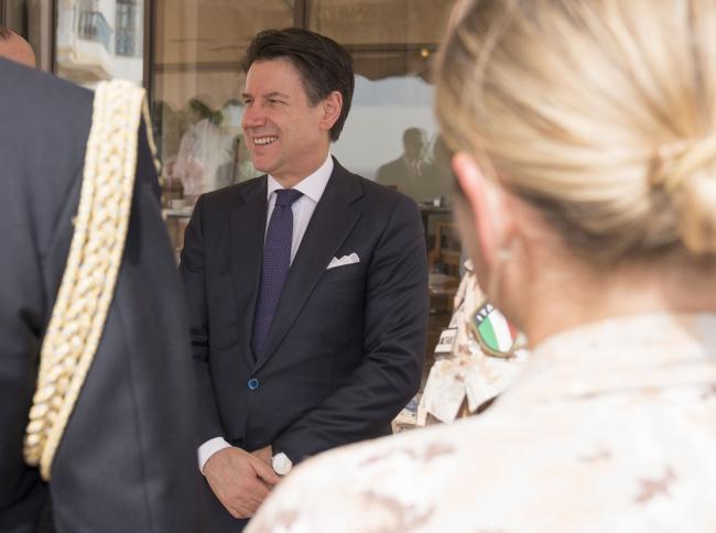 Il Presidente Conte incontra una delegazione del Contingente militare italiano