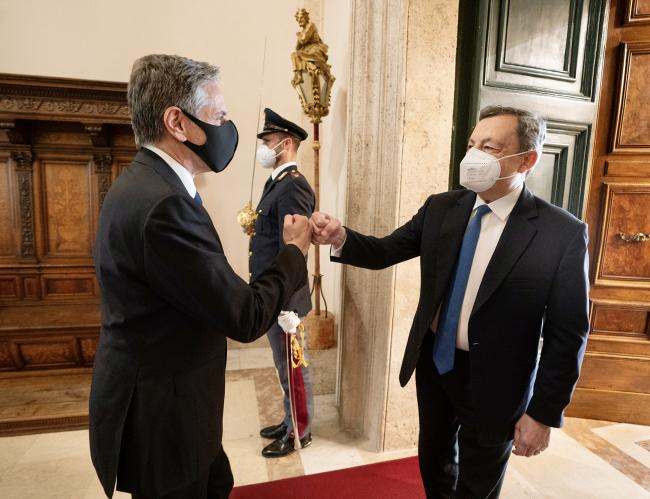 Il Presidente Draghi incontra il Segretario di Stato Usa Blinken