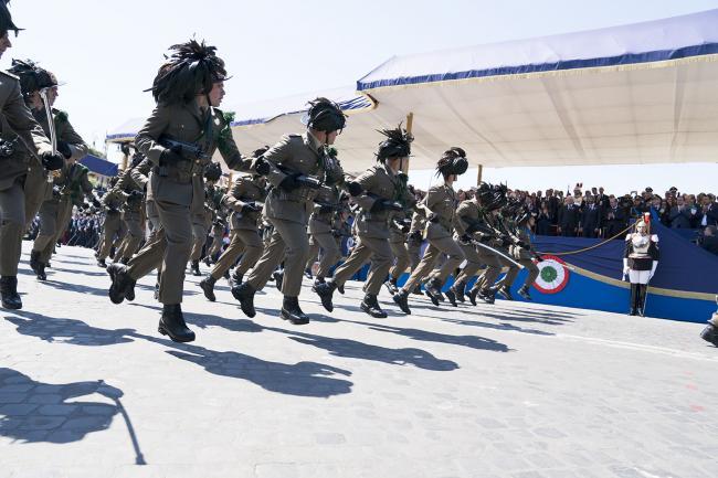 Il Presidente Conte assiste alla parata delle Forze Armate in via dei Fori Imperiali