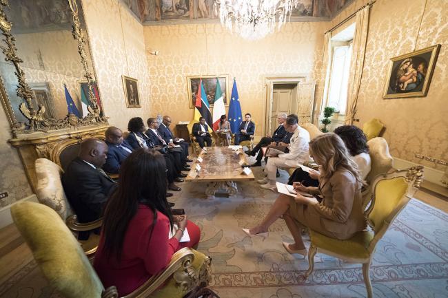 Il Presidente Conte incontra il Presidente della Repubblica del Mozambico