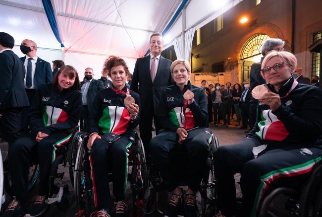 Gli atleti olimpici e paralimpici di Tokyo 2020 a Palazzo Chigi