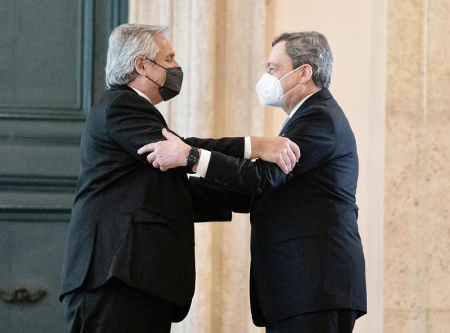 Draghi incontra il Presidente della Repubblica Argentina, Alberto Fernàndez