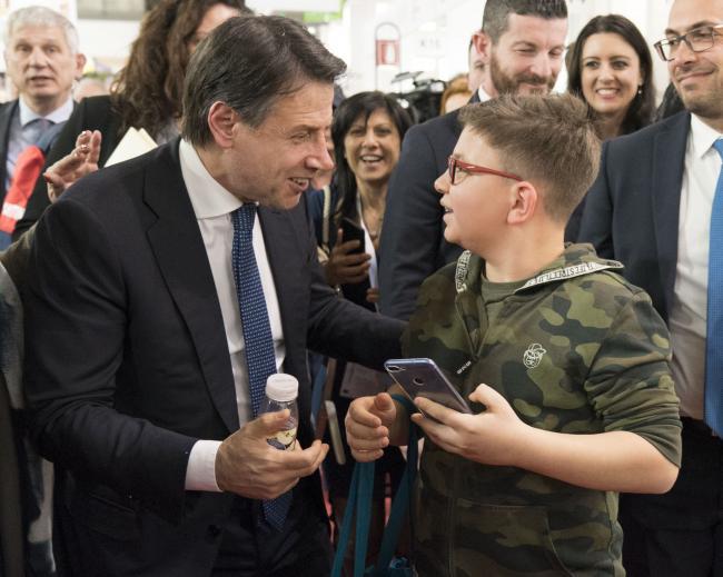 """Il Presidente Conte alla fiera """"Tuttofood"""""""