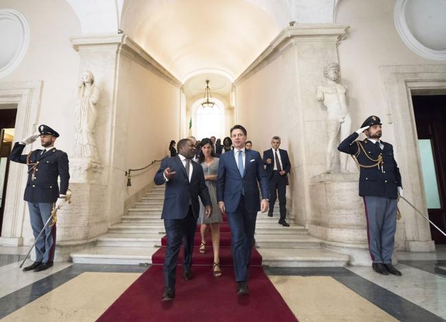 Il Presidente Conte con il Presidente della Repubblica del Mozambico