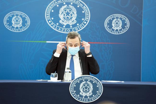 Conferenza stampa del Presidente Draghi e del Ministro Speranza