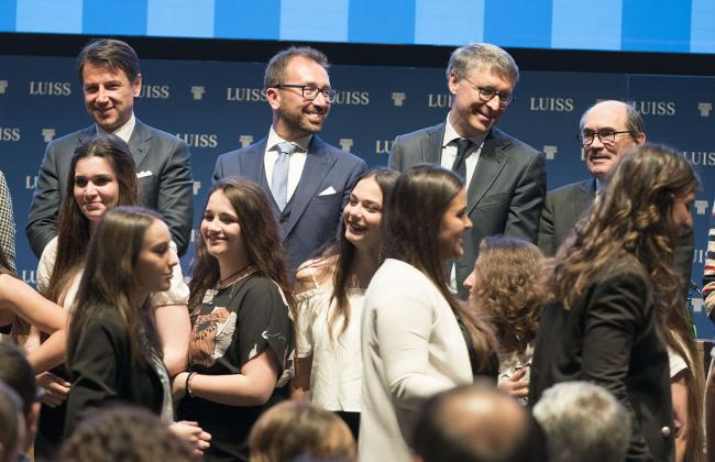 """Il Presidente Conte alla cerimonia conclusiva del progetto """"Legalità e Merito"""""""
