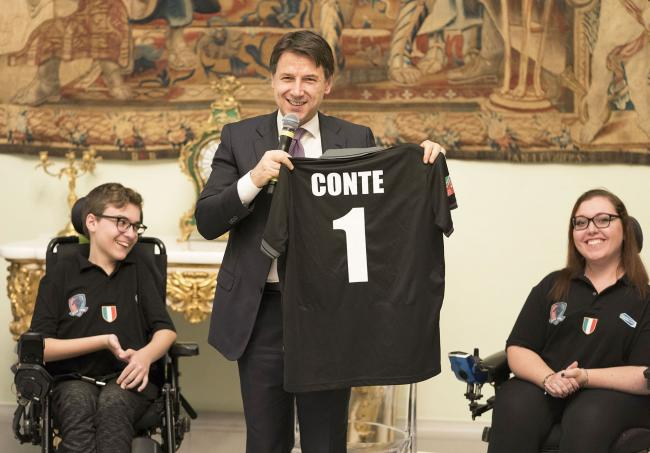 Il Presidente Conte Conte incontra i Black Lions Venezia